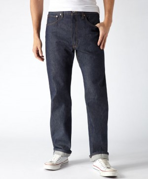 Levi's Mens 501 Original Shrink-to-Fit Jeans - Rigid Indigo