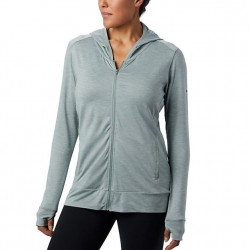Columbia Place To Place Full Zip Hoodie - Light Lichen Heather