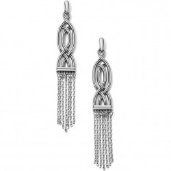 Brighton Interlock Fringe Post Drop Earrings