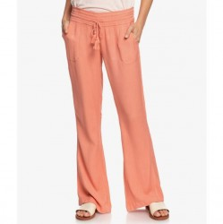 Roxy Flared Linen Pant - Terracota