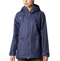 Columbia Arcadia Hooded Rain Jacket - Nocturnal Navy