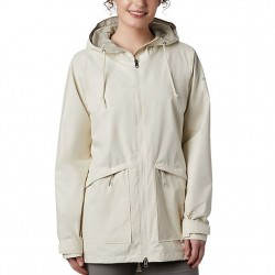Columbia Arcadia Hooded Rain Jacket - Chalk