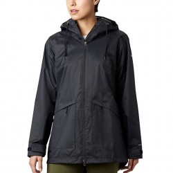 Columbia Arcadia Hooded Rain Jacket - Black