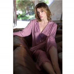 Satin Pajama Set - Dusty Rose