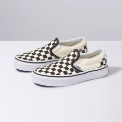Vans Kids Slip On - Black/White Check