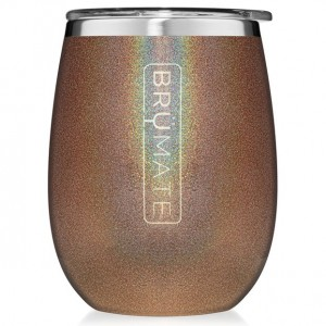 Brumate 14 oz Insulated Wine Tumbler - Glitter Gold