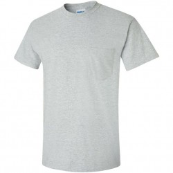 Short Sleeve Basic Pocket T-Shirt - Sport Grey