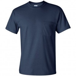 Short Sleeve Basic Pocket T-Shirt - Navy
