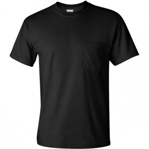 Short Sleeve Basic Pocket T-Shirt - Black