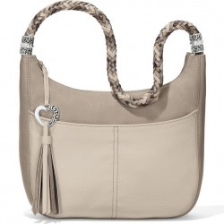 Brighton Barbados Hobo Handbag - Stone