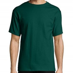 Hanes Men's TAGLESS® Short Sleeve T-Shirt - Forest Green