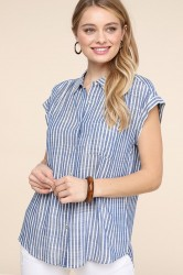 Be Cool Stripe Woven Shirt #16885