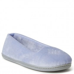 Dearfoam Closed Back Velour Slipper - Eventide