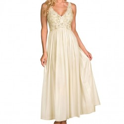 Satin Lace Ivory Nightgown
