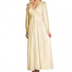 Satin Lace Robe - Ivory
