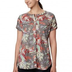 Columbia Camp Henry Shirt - Coral Flora