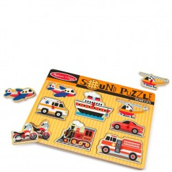 Melissa and Doug Sound Puzzle - Vehicles