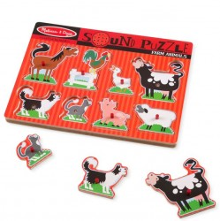 Melissa and Doug Sound Puzzle - Farm Animals