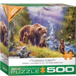Eurographics Puzzle - 500 pc Grizzley Cubs