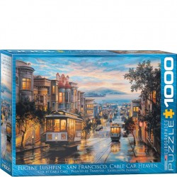 Eurographics Puzzle - 1000 pc SF Cable Car Heaven