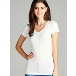 Active Basic V-Neck Tee - White