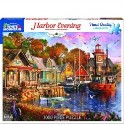 White Mountain 1000 pc Puzzle - Harbor Evening