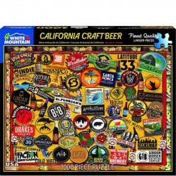White Mountain 1000 pc Puzzle - California Craft Beer