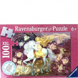Ravensburger 100 PC Puzzle - Horse Princess Fairy with Glitter