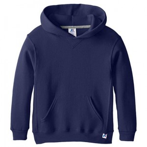 Russell Hooded Pullover - Navy