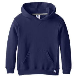 Boys 8 to 20 Russell Hooded Pullover - Navy