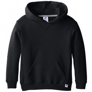 Russell Hooded Pullover - Black