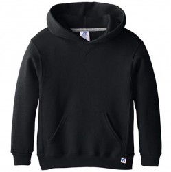Boys 8 to 20 Russell Hooded Pullover - Black