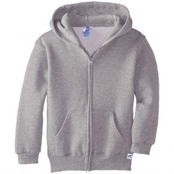 Russell Athletic Dri-Power Performance Boys Full Zip Hooded Sweatshirt Style #997HBM0 Oxford