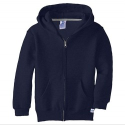 Russell Athletic Dri-Power Performance Boys Full Zip Hooded Sweatshirt Style #997HBM0 Navy