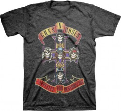 Screen Tee - Guns N Roses Cross Tri-Blend Crew Neck Tee