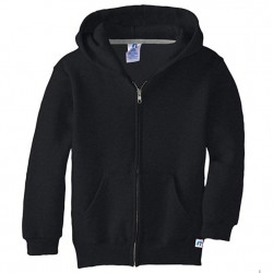 Russell Athletic Dri-Power Performance Boys Full Zip Hooded Sweatshirt Style #997HBM0 Black