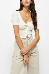 Free People Little Cute Cardi - White