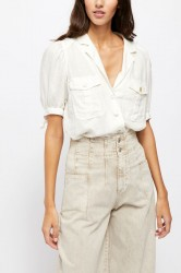 Free People Safari Babe Top - White