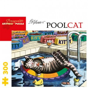 Pomegranate 300 PC Puzzle - Pool Cat