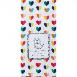 """Kay Dee Designs Tea Towel - """"All you need is love and a dog"""""""