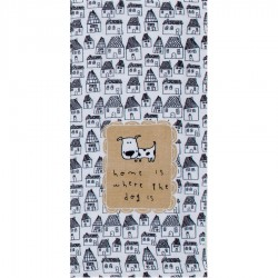"""Kay Dee Designs Tea Towel - """"Home is where the dog is"""""""