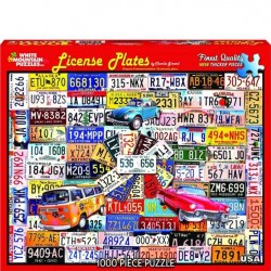 White Mountain 1000 pc Puzzle - License Plates