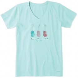"""Life is Good V-Neck Tee - 3 Guitars """"Music is What Color..."""""""