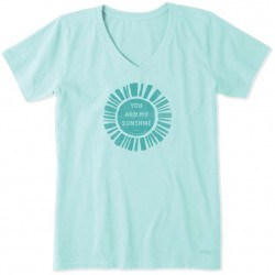 Life is Good V-Neck Tee - You Are My Sunshine