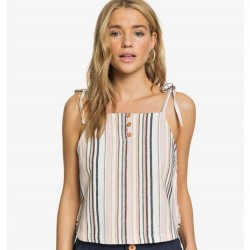 ROXY Live Lovely Strappy Top - Snow White Stripe