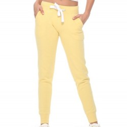 Fleece Jogger Sweatpants with Pockets - Butter Yellow