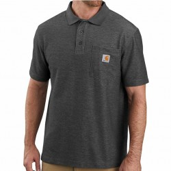 Carhartt Polo Shirt with Pocket - Carbon Heather