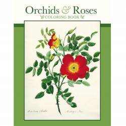 Pomegranate Coloring Book - Orchids & Roses