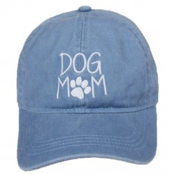 Embroidered Baseball Cap - Dog Mom Blue