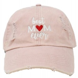 Embroidered Baseball Cap - Best Mom Ever Dusty Pink